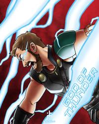 The God of Thunder by pencilHead7