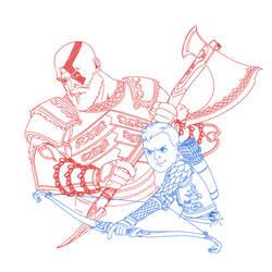 God of War by pencilHead7