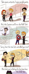 Bruce/Clint with a side of...Taylor Swift? by flatbear