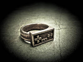 A blast from the past - Stainless 3d printed ring by soupcan13
