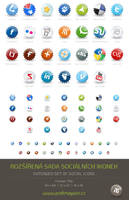 Extended set of social icons by Tydlinka