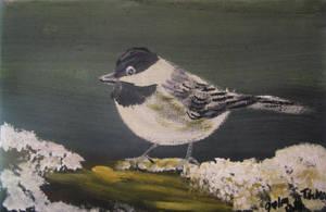 Winter Chickadee by juliarita