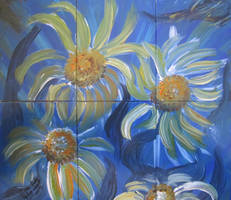 Daisies In The Blue by juliarita