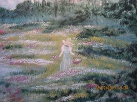 Picking Flowers by juliarita