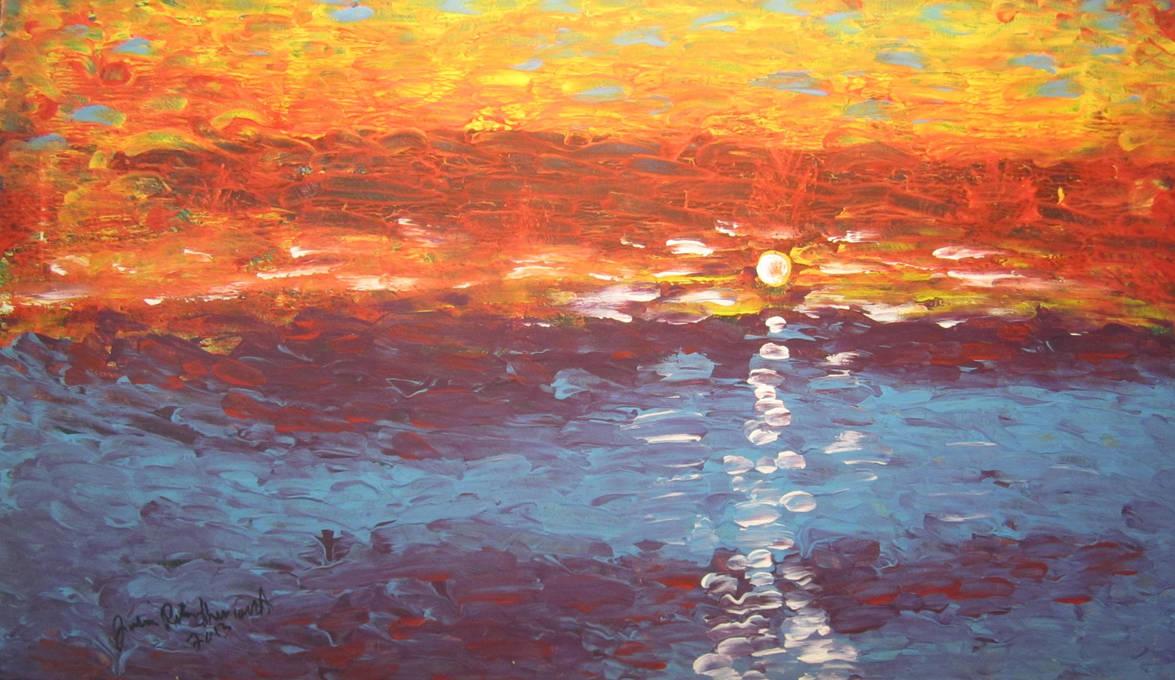 Moon On The Water by juliarita
