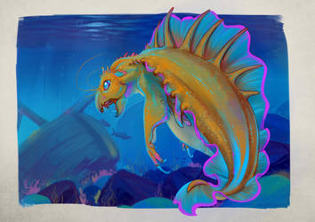 Drago Cuttlefish by Iguanodragon