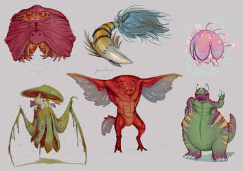 Halloween Doodles 1 by Iguanodragon