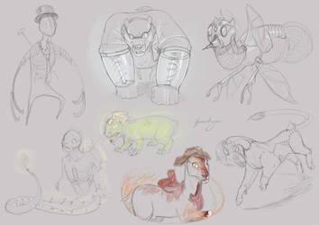 Halloween Doodles 2 by Iguanodragon