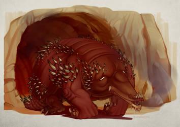 Drago Echidna by Iguanodragon