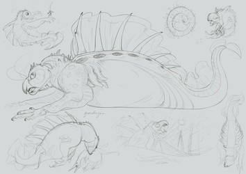 No Drago Animal This Week (So have some sketches) by Iguanodragon