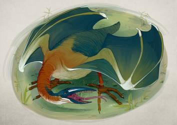 Drago Heron by Iguanodragon