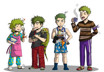 TMNT: Almost Human - Breakfast by AngelCou