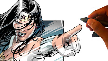 Comic Speed Painting 7 - Wonder Woman by RexLokus