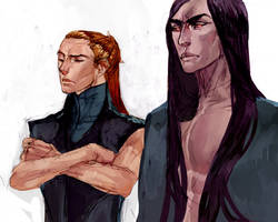 Sauron and Melkor by SalmVil
