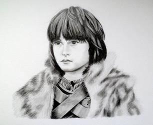 Little Bran Stark - Game of Thrones by EldalinSkywalker