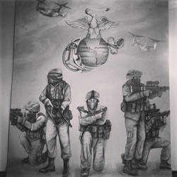 Marines with EGA by TheBeautifulSniper