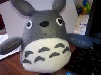 Totoro handmade plushie! by Snowflajke