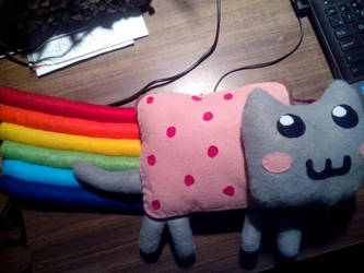 Handmade Nyan Cat plushie! by Snowflajke
