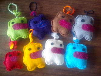 Mimelet character keychains by Snowflajke