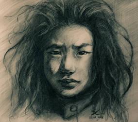 Don't cry, Tibetan boy by SamanthaLi