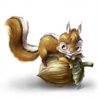 Squirrel by T-Tiger