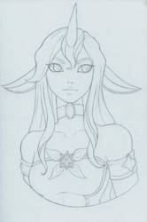 Star Guardian Soraka Sketch by AliceScarlettBlack