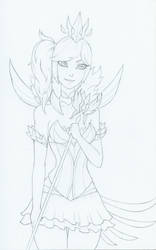 Elementalist Lux - Dark Sketch by AliceScarlettBlack