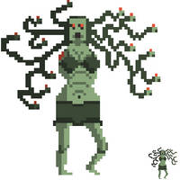 Armless Medusa for the Creature Of Morta challenge by Kyatric