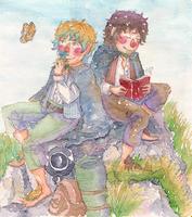 Frodo, Sam by merrinou