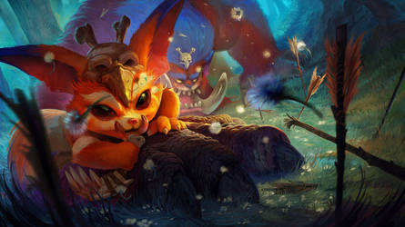 Gnar_League of Legends_Splash screen by strenerus