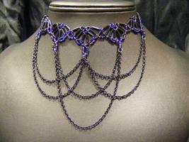 twilight princess choker with drapes by BacktoEarthCreations