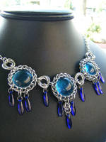 Persian daggers in blue by BacktoEarthCreations