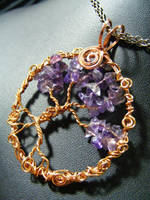 amethyst and copper tree by BacktoEarthCreations