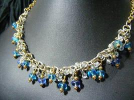 Blue Glass shaggy Loops by BacktoEarthCreations