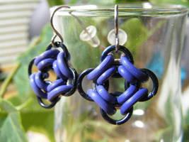 ojo de dios earrings purple by BacktoEarthCreations
