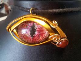 blood eye of Ra by BacktoEarthCreations