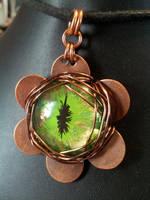 Steam green flower eye by BacktoEarthCreations