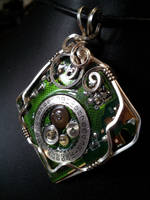 Circuit And Gears In Silver 3 by BacktoEarthCreations