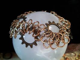 Gear Wave Bracelet by BacktoEarthCreations