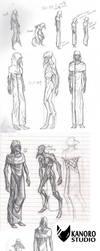 Sketchdump - 17/02/2014 (SCP 049) by Kanoro-Studio