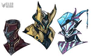 Warframe Helmet Designs by Kanoro-Studio