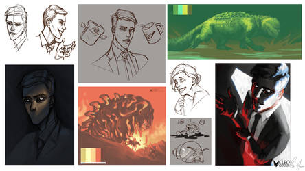 June 2018 Sketchdump by Kanoro-Studio