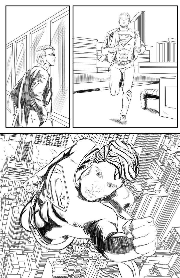 02 Superman Art Sample - Commissions are Open by TheRafaLee