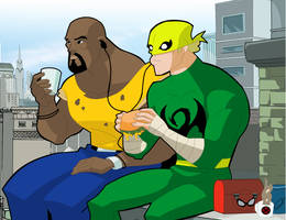 Heroes for Hire - Lunch time by Ferreira-404