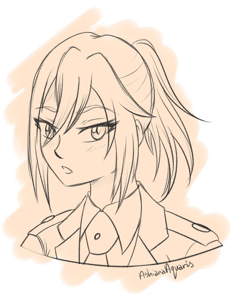 [BnHA] Gift: Yuki sketch portrait by AshianaAquaris