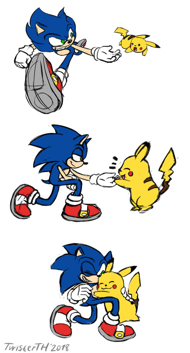 SSBU - Sonic Saves Pikachu by TwisterTH