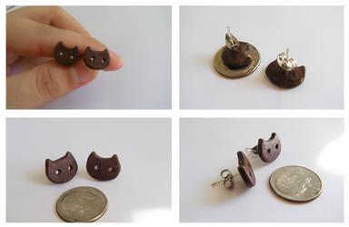 Steven Universe Cookie Cat earrings by SweetPandaFish
