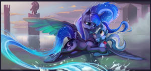 [COMMISSION] Loving in the moonlight by Tony-Retro