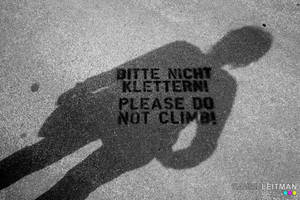 Pleaso Do Not Climb by Leitman