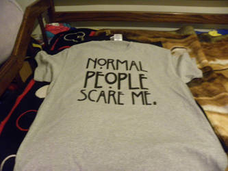 normal people scare me t-shirt by Kingdomhearts1994